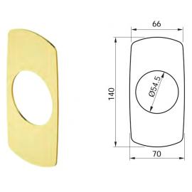 Placa Ebellecedora Exterior para Escudo DISEC