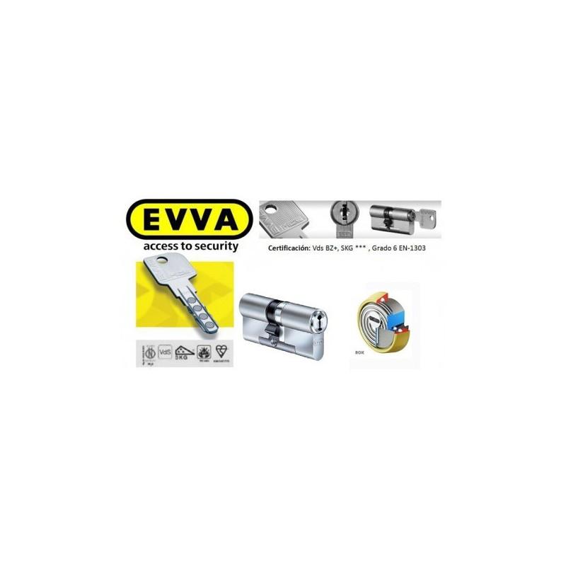Kit Escudo Protector Alta Seguridad Disec BD280 Serie ROK + Bombín EVVA MCS Alta Seguridad Magnético 5 Llaves - Sin Pomo