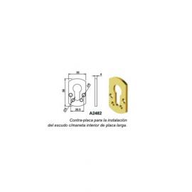 Contra-placa interna para bajo maneta (escudo de alta seguridad DISEC)