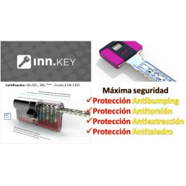Bombín de Seguridad INN.KEY SMART VdS BZ+ Anti-bumping - 5 Llaves
