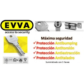 Bombín EVVA  3KS PLUS Alta Seguridad 5 Llaves