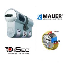 Kit Escudo Protector Blindado Alta Seguridad con Alarma DISEC BD280LED-ROK dB+SIM + Bombin MAUER NW5