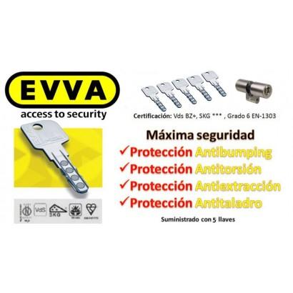 Kit Escudo Protector Disec LG280ARC + Bombín EVVA MCS Magnético 5 Llaves (Perfil Suizo para Ezcurra SEA 23)