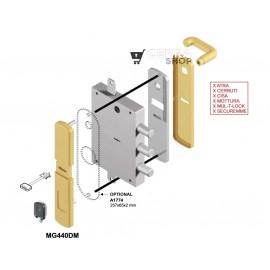 Escudo Protector Magnético DISEC MG440 para Cerradura Borja