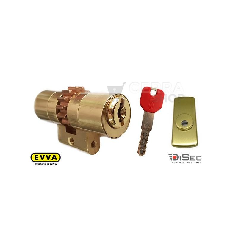 Kit Escudo Protector Disec LG280ARC + Bombín EVVA MCS Magnético 5 Llaves (Perfil Suizo para Arcu)