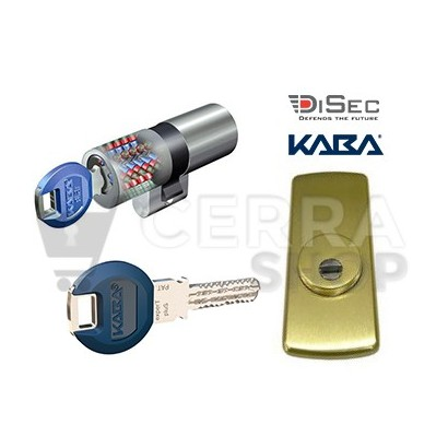 Kit Escudo Protector Disec LG280ARC + Bombín KABA Expert Plus (Perfil Suizo Ezcurra)