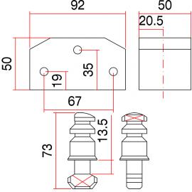SAG BB6 - Candado de Seguridad para persiana