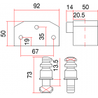 SAG BB6 DB - Candado de Seguridad para persiana
