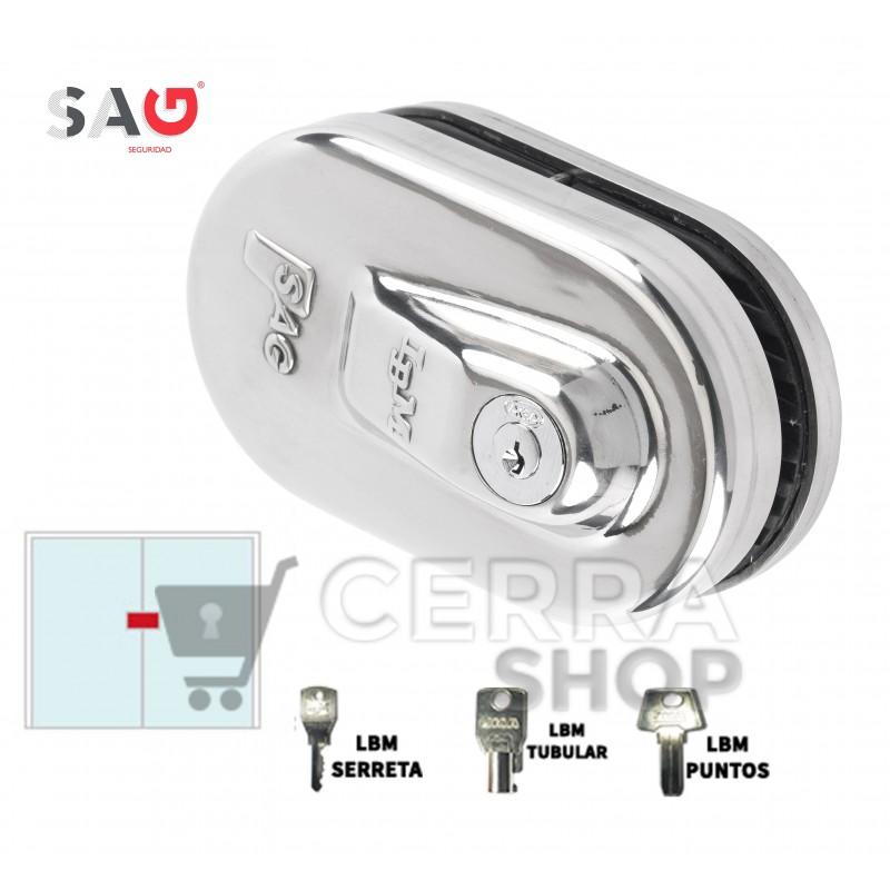 SAG LBM - Cerradura para puerta de Cristal