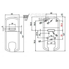 Escudo Protector Magnético  DISEC MG210MCM 4W para Cerradura Borja