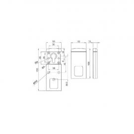 Escudo Protector Magnetico DISEC  MG300 (Tornilleria pasante/55 mm)