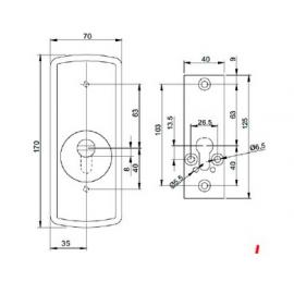 Escudo de alta seguridad c/placa DISEC Serie LG,280EZC ROK
