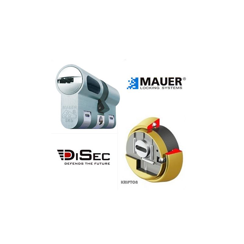 Kit Basico Bombin MAUER NW5 + Escudo DISEC BKS280 (Serie Kripton)