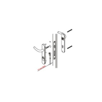 Conjunto de Placas Protectores Fijo + Maneta DISEC 35X245MM