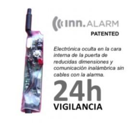 Escudo Protector Blindado Alta Seguridad con Alarma DISEC BD280LED-ROK dB+SIM + Bombin MAUER NW5
